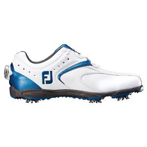 45141 16EXL BOA WH/BL W255 フットジョイ メンズ・ゴルフシューズ (ホワイト+ブルー 25.5cm) EXL Boa #45141