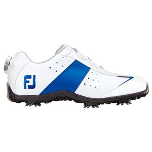 97080 ロープロスポーツBoa W/BL W225 フットジョイ レディース・ゴルフシューズ (ホワイト+ブルー 22.5cm) LoPro SPORT Boa #97080
