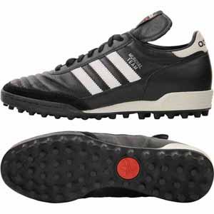ADJ-019228-225 アディダス サッカー トレーニングシューズ(ブラック/ランニングホワイト/レッド・22.5cm) adidas ムンディアルチーム