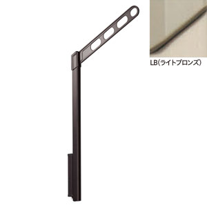 LP-55-LB 川口技研 腰壁用ホスクリーン ポール上下タイプ LP-55型(ライトブロンズ)2本組