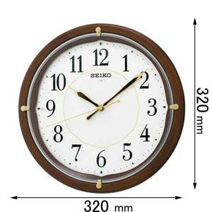 KX202B セイコークロック 電波掛け時計 全面点灯 [KX202B]【返品種別A】