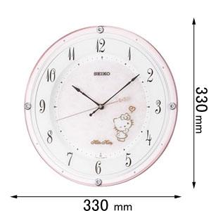 【エントリーでP5倍 8/9 1:59迄】CS501P セイコークロック 電波掛け時計 【ハローキティ】 [CS501P]【返品種別A】