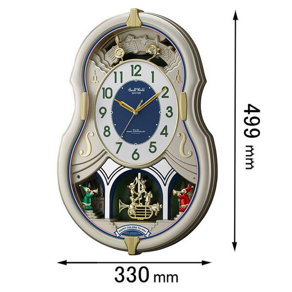 4MN543RH18 リズム時計 アミューズ時計 スモールワールド カラーズ [スモルワルドカラズ]【返品種別A】