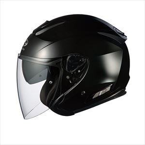 ASAGI-BK-L OGKカブト オープンフェイスヘルメット(ブラックメタリック)[L] OGK ASAGI
