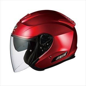 ASAGI-SRD-S OGKカブト オープンフェイスヘルメット(シャイニーレッド)[S] OGK ASAGI