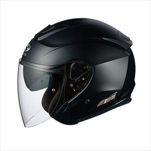 ASAGI-FBK-M OGKカブト オープンフェイスヘルメット(フラットブラック)[M] OGK ASAGI