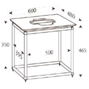 ALT-S600T アンダンテラルゴ 1段オーディオラック【受注生産品】 ANDANTE LARGO Rigid Table Silence