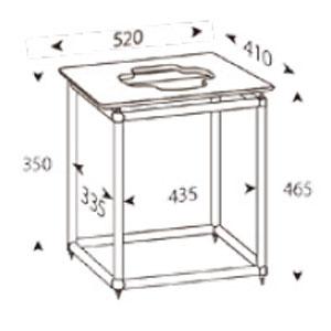 ALT-S520T アンダンテラルゴ 1段オーディオラック【受注生産品】 ANDANTE LARGO Rigid Table Silence