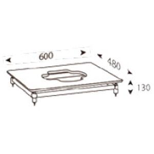 ALT-S600SUBT2 アンダンテラルゴ 1段オーディオラック【受注生産品】 ANDANTE LARGO Sub Table Silence