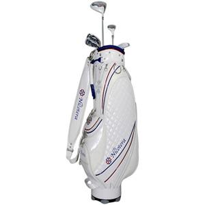 NTCS-5753【税込】 ニコテラ レディース ゴルフ ハーフ クラブセット 7本セット L キャディバッグ付 NICOTERA