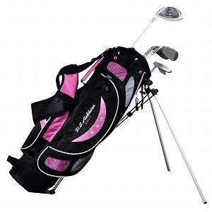 USCS-5755 PK U.S.アスリート ジュニア用 ゴルフ クラブセット 4本セット スタンドバッグ付 ピンク9~12歳対象(身長130~150cm) U.S.Athlete