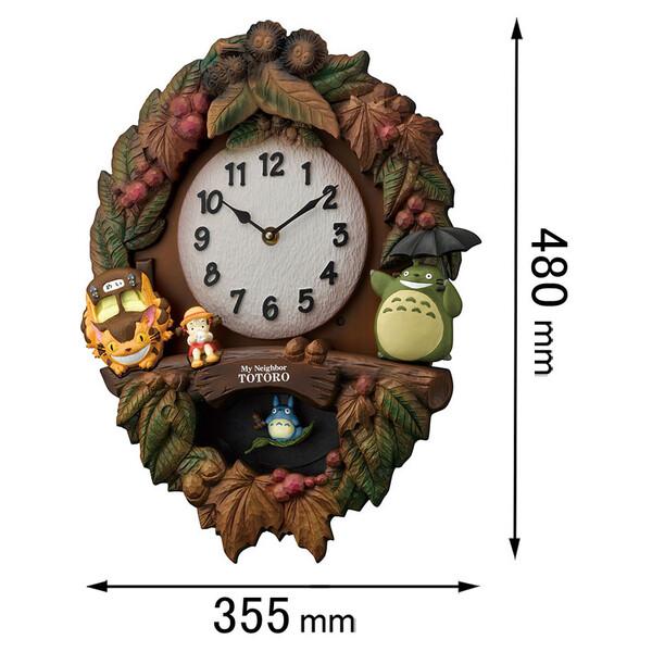 トトロM429 リズム時計 アミューズ時計 【となりのトトロ】 4MJ429M06 [トトロM429]【返品種別A】