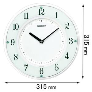 SF-505-W セイコークロック ソーラー電波掛け時計 [SF505W]【返品種別A】