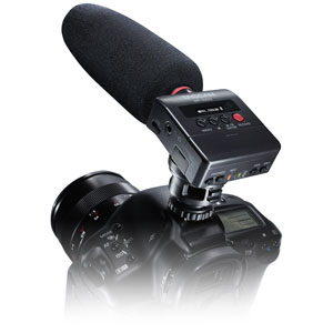 DR-10SG タスカム ショットガンマイク搭載カメラ用リニアPCMレコーダー TASCAM