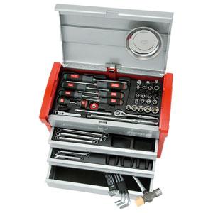 SK3650E 京都機械工具 9.5sq.工具セット(チェストタイプ) KTC 整備用工具セット