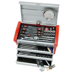 12.7sq.工具セット(チェストケース) SK4580E 京都機械工具 整備用工具セット KTC