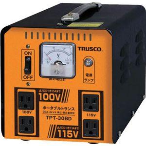 TPT-30BD トラスコ中山 ポータブルトランス 30A 3kVA 降圧・昇圧兼用型 変圧器(トランス)