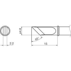 T31-01KU 白光 こて先 KU型 NEW デジタル高周波誘導加熱式はんだこて <セール&特集>
