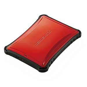 ELP-ZS010URD エレコム USB3.0対応 ポータブルハードディスク 1.0TB(レッド) ZEROSHOCK ELP-ZSUシリーズ