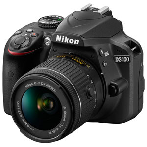 D3400LKBK ニコン デジタル一眼レフカメラ「D3400」18-55 VR レンズキット(ブラック)