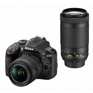D3400WZBK ニコン デジタル一眼レフカメラ「D3400」ダブルズームキット(ブラック)