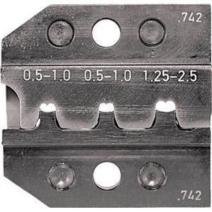 624-742-3-0 RENNSTEIG 圧着ダイス オープンバレル接続端子 0.5- 手動圧着工具