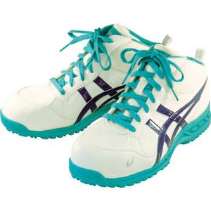 FIS35L.0149-25.0 アシックス 作業用靴 ウィンジョブ35L 25.0cm(ホワイトXミッドナイトブルー) プロテクティブスニーカー(JSAA B種認定)