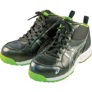 FIS35L.9095-24.0 アシックス 作業用靴 ウィンジョブ35L 24.0cm(ブラックXダークグレー) プロテクティブスニーカー(JSAA B種認定)