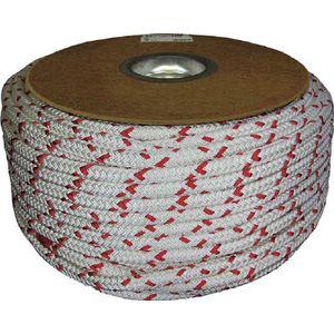 PRA-65 ユタカメイク ポリエステルWブレードドラム巻 12φ×100m(紅白) ロープ(ポリエチレン)