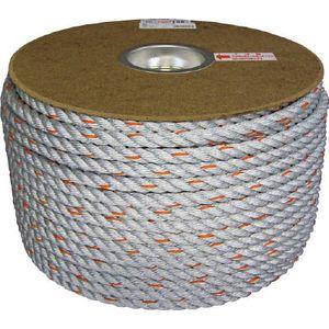 PRDP-6 ユタカメイク ダイヤロープドラム巻 12φ×100m(グレー) ロープ