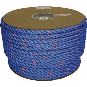 PRVP-62 ユタカメイク タストンロープ ブルー ドラム巻 12φ×100m(青) ロープ(ポリプロピレン)