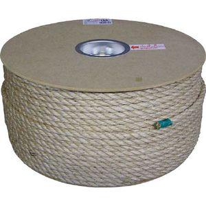 PRM-5 ユタカメイク マニラロープドラム巻 9φ×150m(茶) ロープ