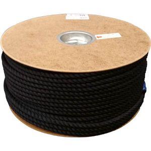 PRS-51 ユタカメイク ポリエステルロープ ドラム巻 9φ×150m(黒) ロープ(ポリエチレン)