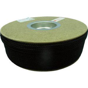 PRS-71 ユタカメイク ポリエステルロープ ドラム巻 3φ×300m(黒) ロープ(ポリエチレン)