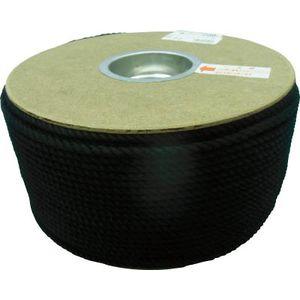 PRS-91 ユタカメイク ポリエステルロープ ドラム巻 5φ×200m(黒) ロープ(ポリエチレン)