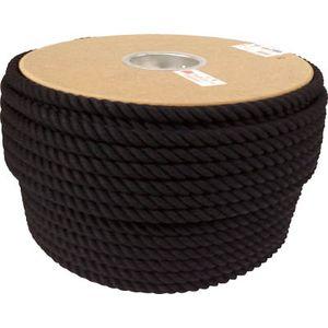 PRC-61 ユタカメイク ロープ 綿ロープドラム巻 12φ×100m(ブラック) ロープ