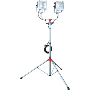 PHCX-305N ハタヤリミテッド 防雨型スタンド付ハロゲンライト 300W×2灯 100V電線5m 投光器(ハロゲン)