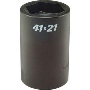 SWBQ-4121 フラッシュツール スプライン コンビネーション ソケット 差込#5スプライン 6角41mm インパクト用ソケット