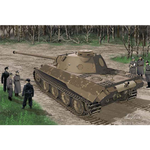 1/35 WW.II ドイツ軍 パンターD型V2 量産試作タイプ【DR6830】 ドラゴンモデル