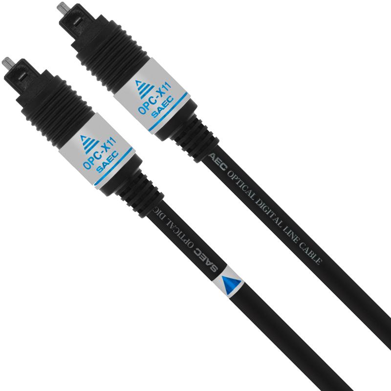 OPC-X11 0.7M サエク 光デジタルケーブル(0.7m・1本)【角型⇔角型】 SAEC