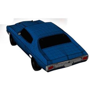 1/10 EP 4WD 1970シボレーシェベル SS454 L56 レディセット(Fathom Blue)【34053T2】 京商