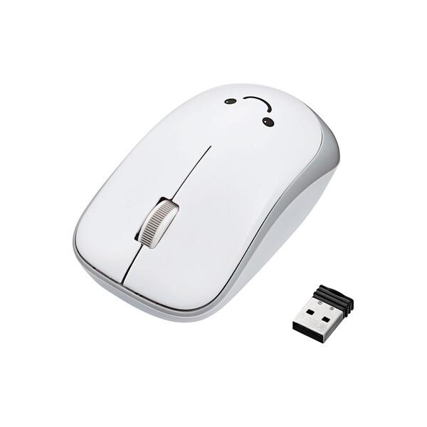 M-IR07DRWH エレコム 2.4GHzワイヤレス IR LEDマウス ENELO ホワイト 省電力 NEW売り切れる前に☆ 3ボタン 保障