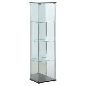 96046 不二貿易 ガラスコレクションケース 4段(背面ミラー付き) TMG-G21