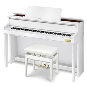 GP-300WE カシオ 電子ピアノ(ホワイトウッド調)【高低自在椅子&ヘッドホン&楽譜集付き】 CASIO CELVIANO Grand Hybrid(セルヴィアーノ)