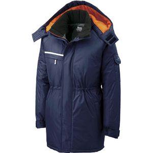 581-10-3L ジーベック 防水防寒コート 紺 3L
