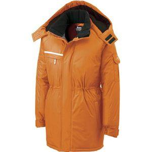 581-82-L ジーベック 防水防寒コート オレンジ L