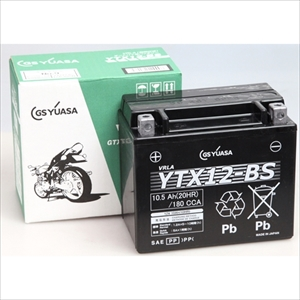 YTX12-BS GSユアサ バイク用バッテリー【電解液注入・充電済】【他商品との同時購入不可】