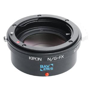 BAVEYES N/G-FX 0.7X KIPON マウントアダプター BAVEYES N/G-FX 0.7X (ボディ側:富士フイルムX/レンズ側:ニコンF【Gタイプ対応】)