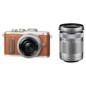 E-PL8 WZKIT(ブラウン) オリンパス デジタル一眼カメラ「PEN Lite E-PL8」ダブルズームキット(ブラウン)