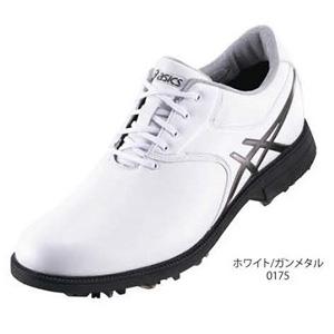 TGN918 0175WHGM24.5 アシックス メンズ・ソフトスパイク・ゴルフシューズ (ホワイト/ガンメタル 24.5cm) GEL-ACE LEGENDMASTER 2